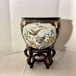 Lot # 74- Vintage Chinese Porcelain Jardiniere