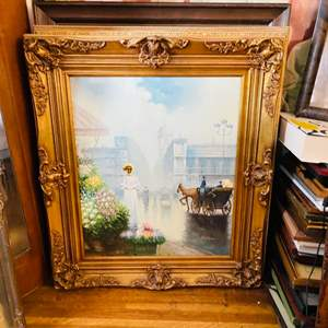 Lot # 84-Original, Vintage Art on Canvas-With Certificate of Authenticity
