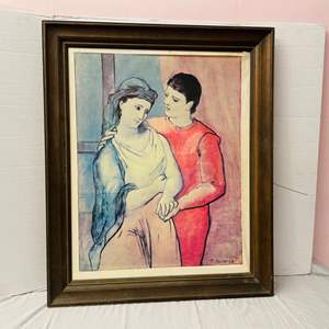 """Lot # 85-Picasso #23 """"The Lovers"""" on Canvas with Signature"""