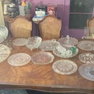 Lot # 101- Vintage Glass Serving Platters