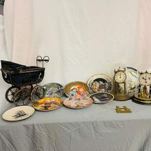 Lot # 116- Collector's Plates, Vintage Doll Carriage & More