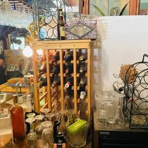 Lot # 133- Wine Case, Vintage Bottles+ More