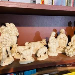 Lot # 136- Ceramic Nativity Set