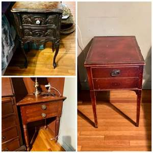 Lot # 138-Three Antique Side Tables