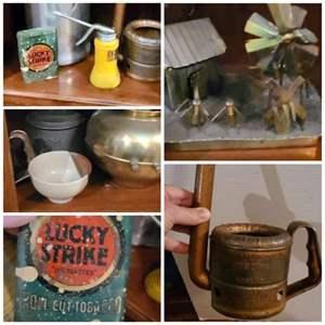 Lot # 144- Four Shelves of Vintage Collectibles