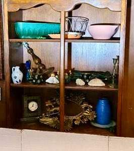 Lot # 145- McCoy Pottery & Miscellaneous Bookcase Items