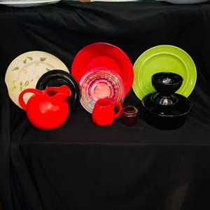 Lot # 151- Franciscan and Metlox Colorstax Dishes