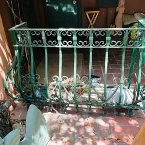 Lot # 162- Wrought Iron Balcony Railing