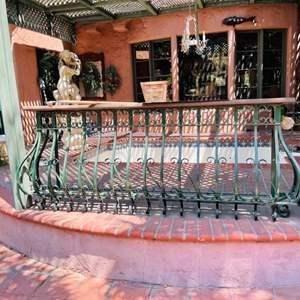 Lot # 165-Extra large Wrought Iron Balcony Railing.