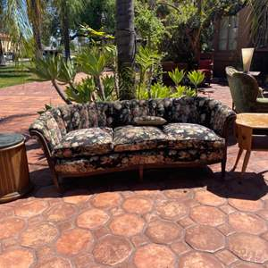 Lot # 206- Floral Vintage Sofa with 2 Side Tables