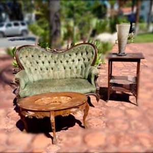 Lot # 210- Antique Victorian Settee- 19th Century and More!
