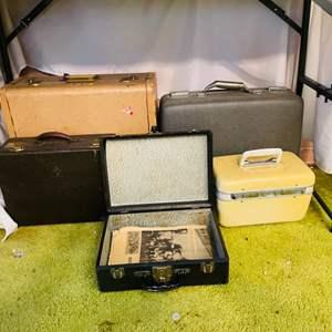 Lot # 222-Vintage Suitcases