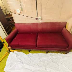 Lot # 226-Antique, Victorian sofa With Amazing Details ~Needs to be Reupholstered