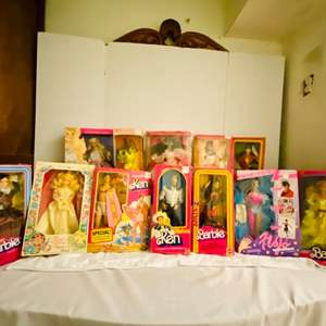 Lot # 251-Collectible Ethnic Barbie Dolls, James Bond, Captain and Tennille, Bionic Woman, Bionic Man, Brooke Shields- unopened
