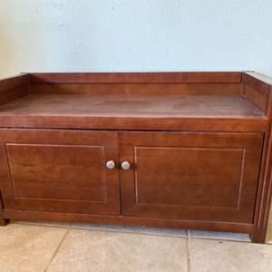 Lot # 4- Wooden Storage Bench