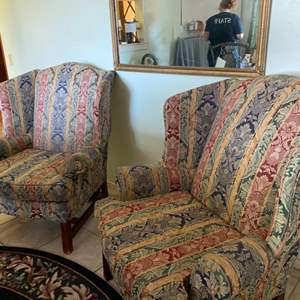Lot # 13- Set of Two Wingback Chairs
