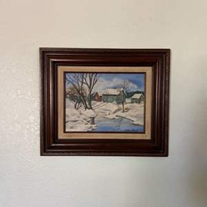 Lot # 17- Oil Painting