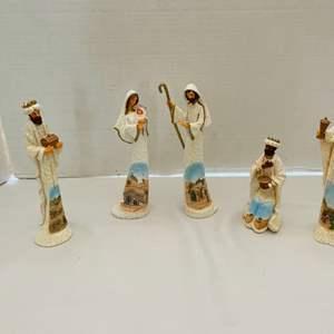 Lot # 27-Beautiful Hand Painted Nativity Set