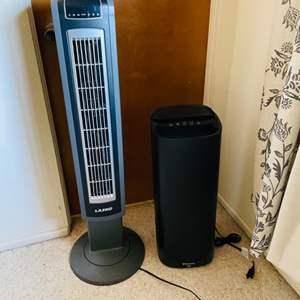 Lot # 62- Lasko Fan and Filtrete Air Purifier
