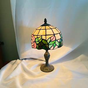 Lot # 63- Stained Glass Tiffany Reproduction Lamp