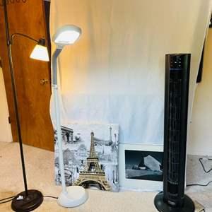 Lot # 79- Lasko Fan, Lamps + More