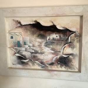 Lot # 81- Oil Painting, Raised on Canvas