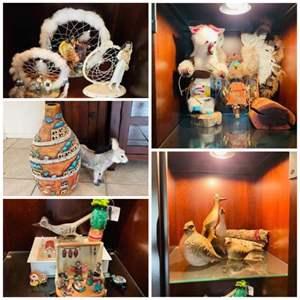 Lot # 94- Southwestern Trinkets- Including a Pueblo Nativity