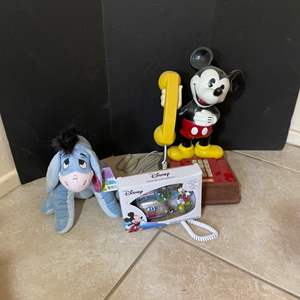 Lot # 96-Mickey Mouse Phone + More