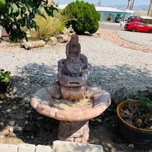 Lot # 104- Native American Fountain
