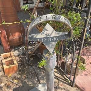 Lot # 118- Stylish Outdoor Sundial