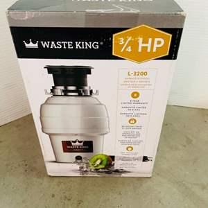 Lot # 170- New in Box: Waste King 3/4 HP Garbage Disposal