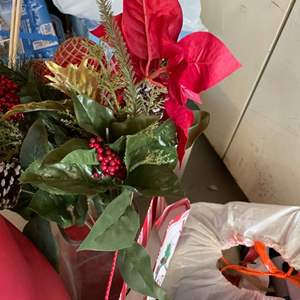 Lot # 174- Christmas Will Be Here Soon: Christmas Tree, Decorative Boxes, Wrapping, Basket and More